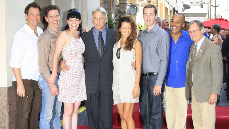NCIS cast at event