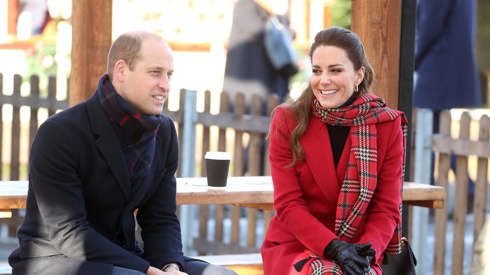Prince William and Kate in a red coat