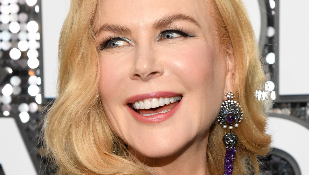 Nicole Kidman smiling at event