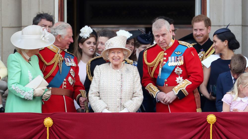 The Royal Family on a terrace
