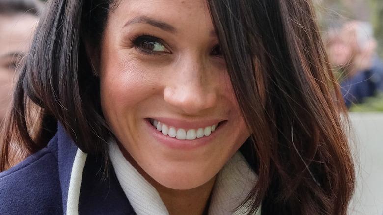 Meghan Markle smiling hair down