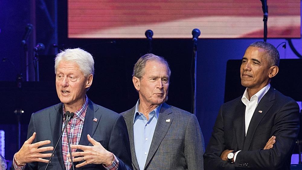 Presidents Clinton, Bush, and Obama