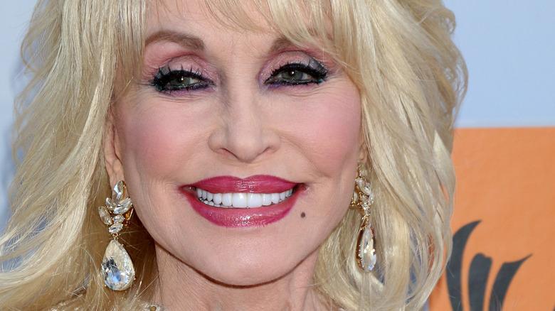 Dolly Parton smiling