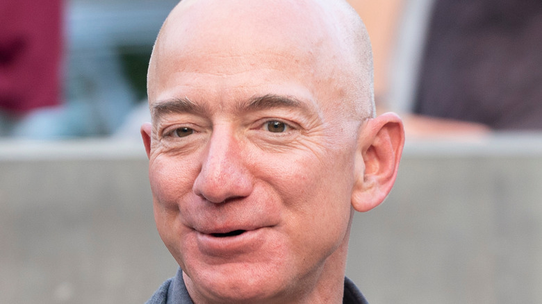 close up of former Amazon CEO, Jeff Bezos