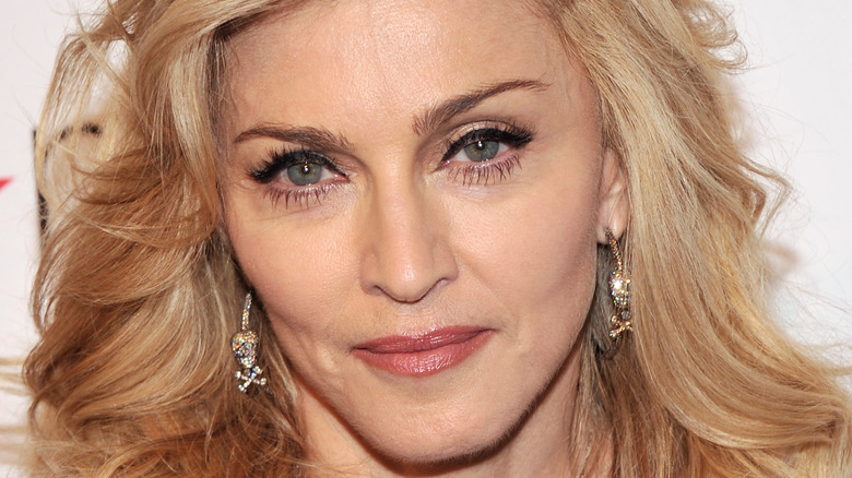 Madonna posing at an event