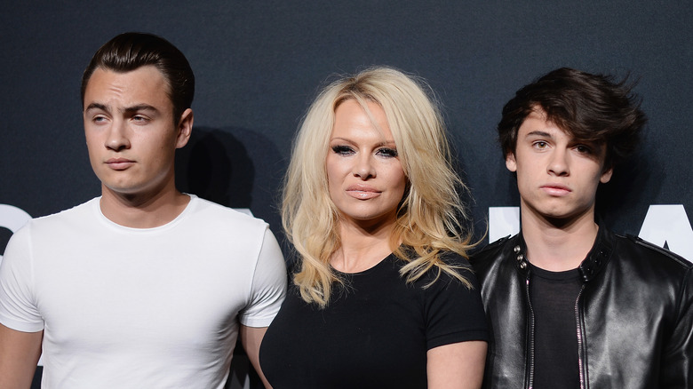Pamela Anderson and her sons Brandon Lee and Dylan Lee