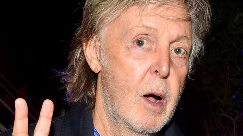 Paul McCartney posing