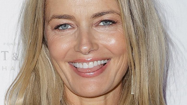 Paulina Porizkova smiles