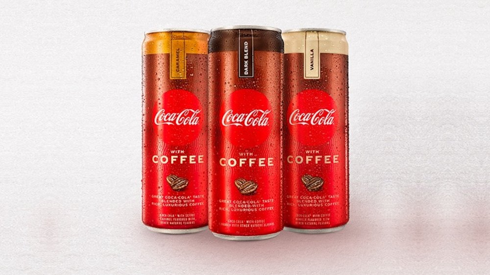 Coffee infused Coca-Cola cans