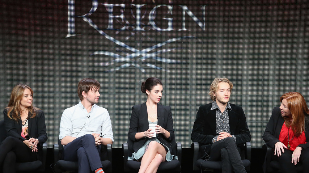Reign's cast members speaking at an event