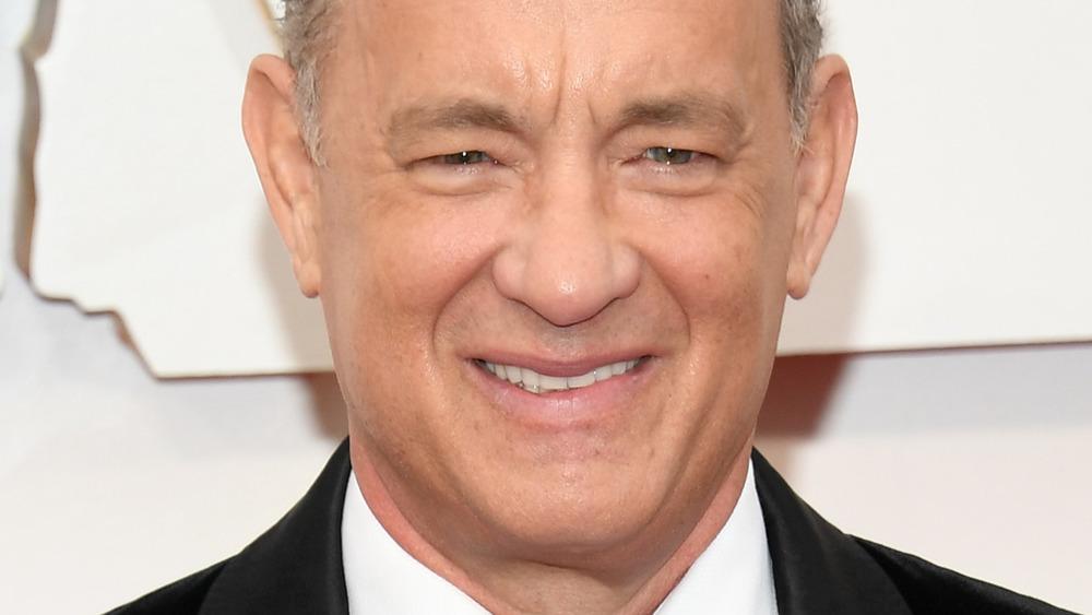 Tom Hanks smiling at Oscars