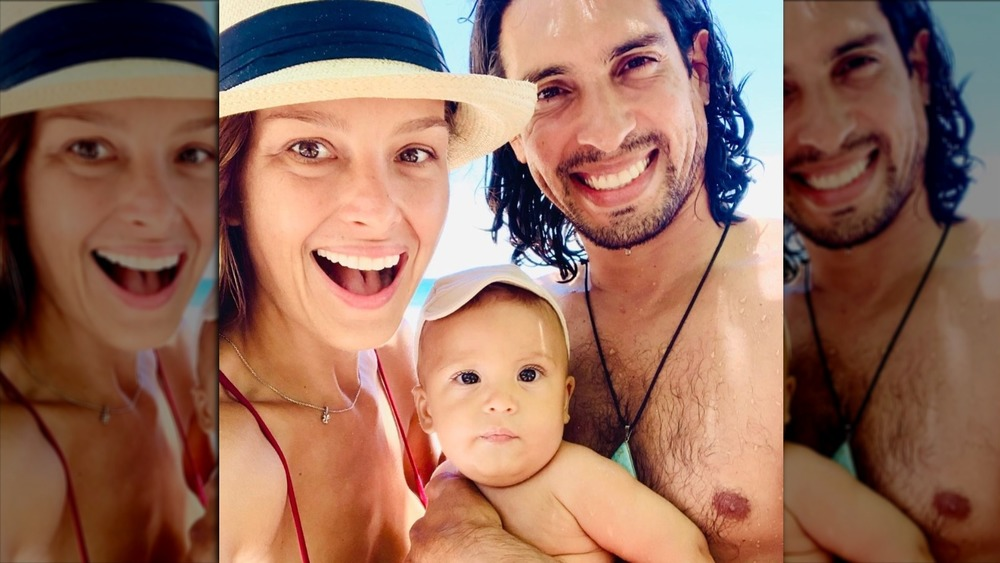 Petra Nemcova with her son Bodhi and husband Benjamin