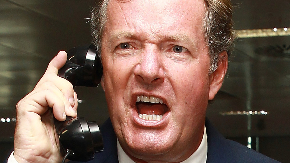 Piers Morgan yells on the phone