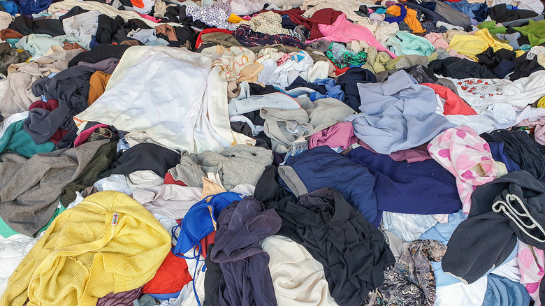 pile of old clothes