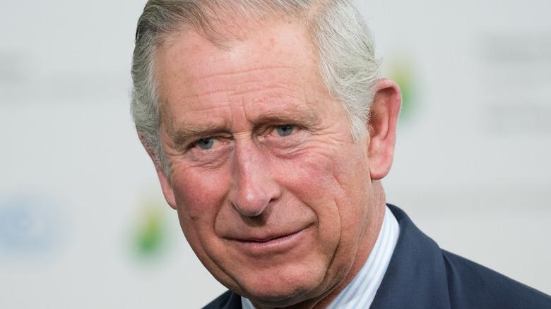 Prince Charles looking at the camera