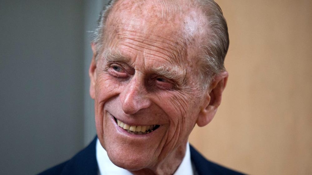 Prince Philip smiles