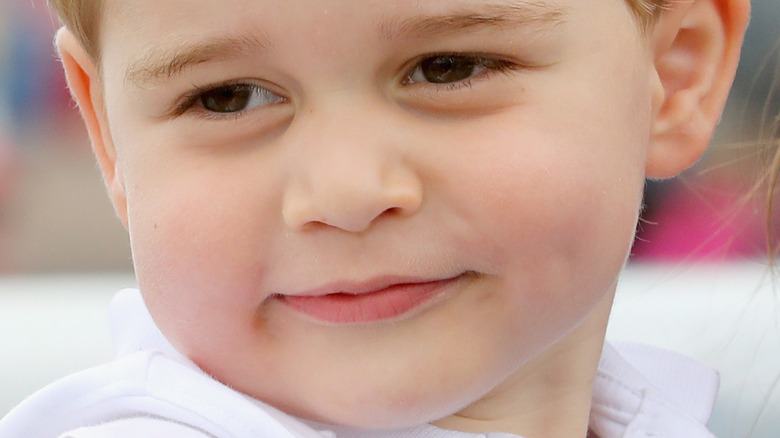 Young Prince George smiling
