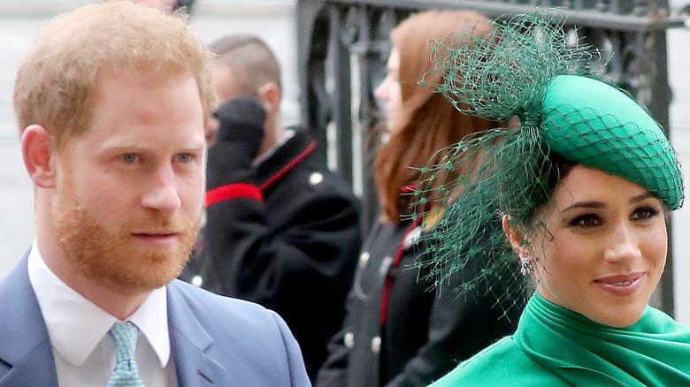 Prince Harry Meghan Markle walking