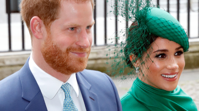 Prince Harry and Meghan Markle at event