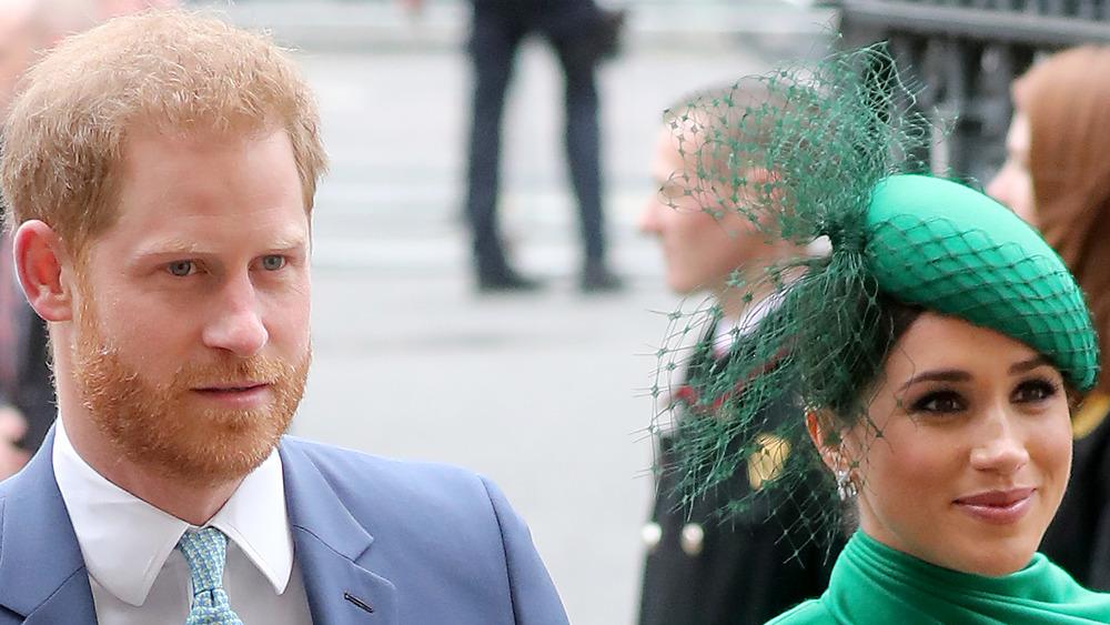 Prince Harry and Meghan Markle at a royal wedding