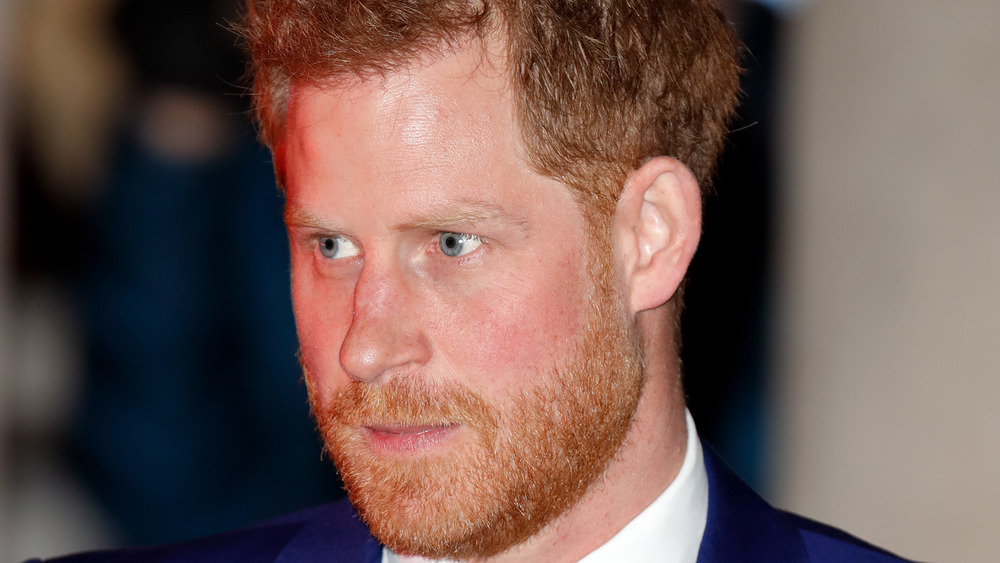 Prince Harry in blue suit