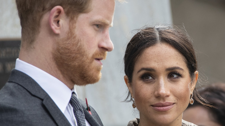 Meghan and Harry at an event.