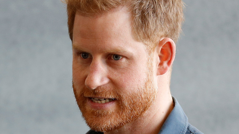 Prince Harry speaking at an event