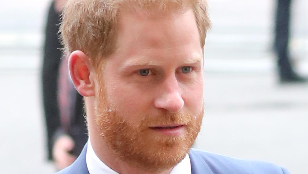 Prince Harry looks ahead