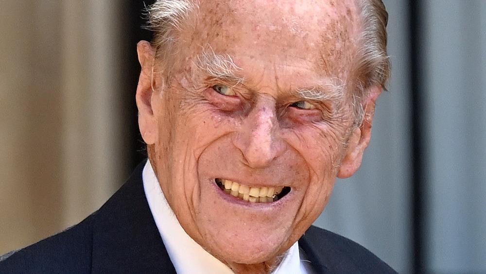 Prince Phillip smiling