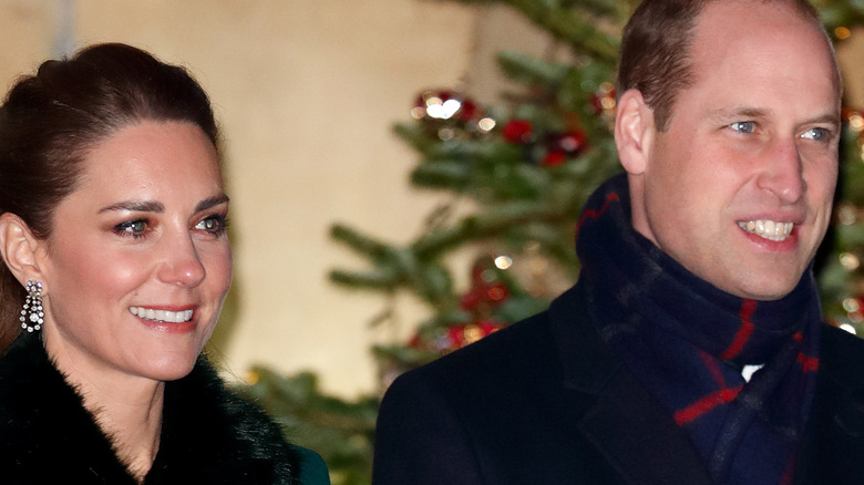 Kate Middleton smiling and Prince William smiling
