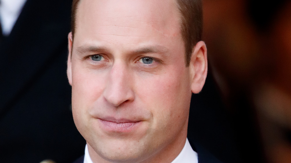 Prince William looks pensive at an event