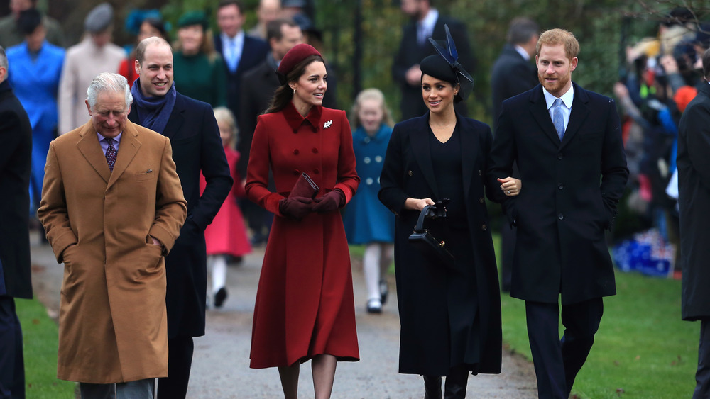 The royal family at a Christmas Day church service