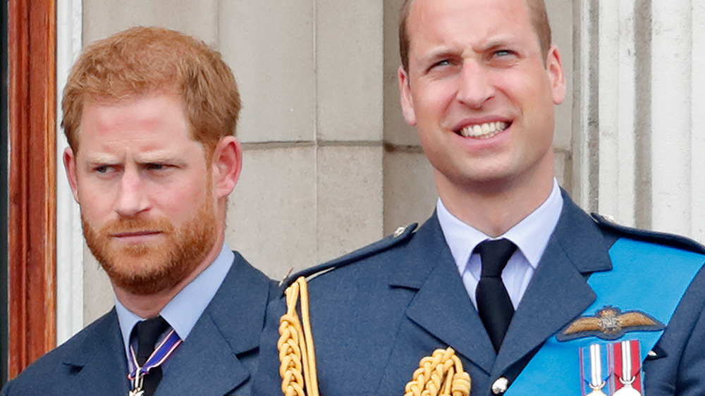 Prince William and Prince Harry at Buckingham Palace