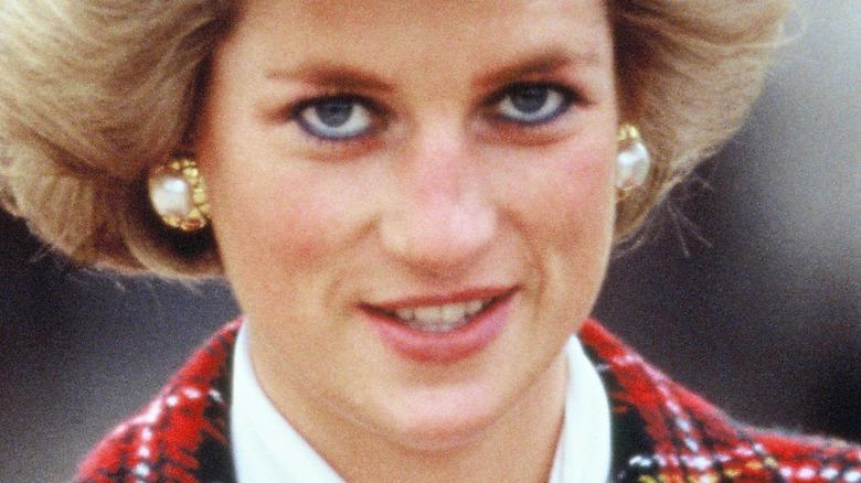 Princess Diana looking ahead