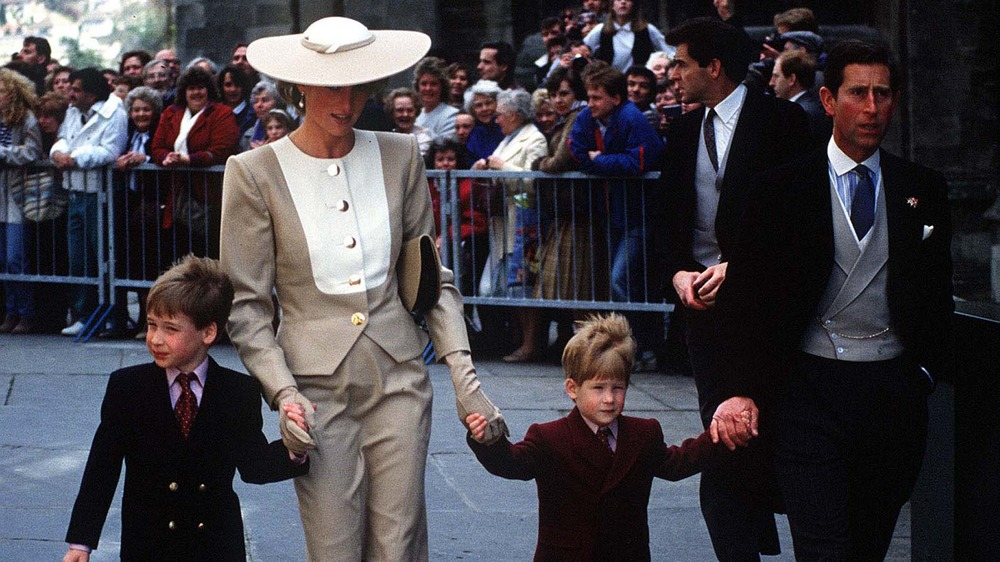 Princess Diana, Prince Charles and William and Harry