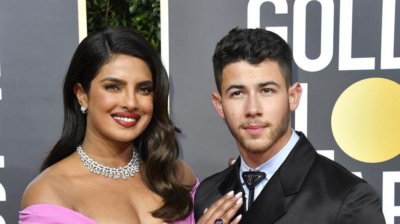 Priyanka Chopra and Nick Jonas on red carpet