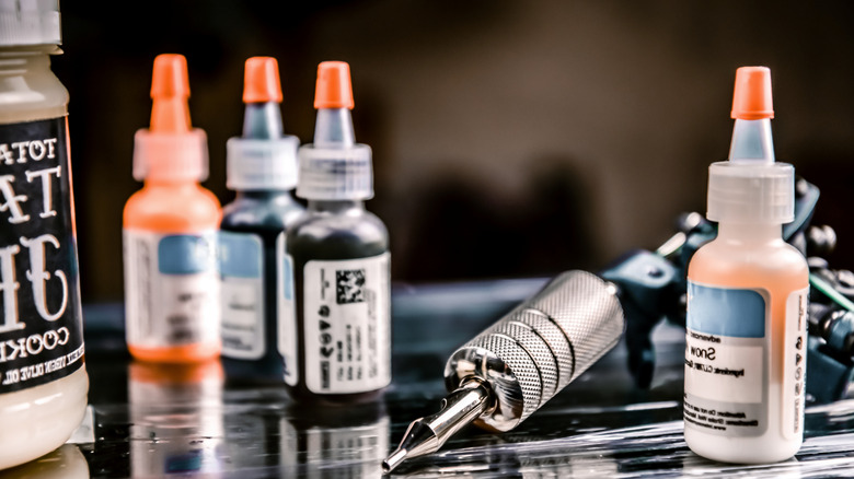 Tattoo inks and needle