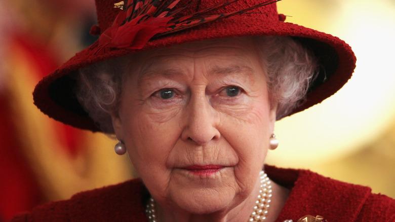 Queen Elizabeth at an event.