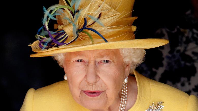 Queen Elizabeth II in yellow