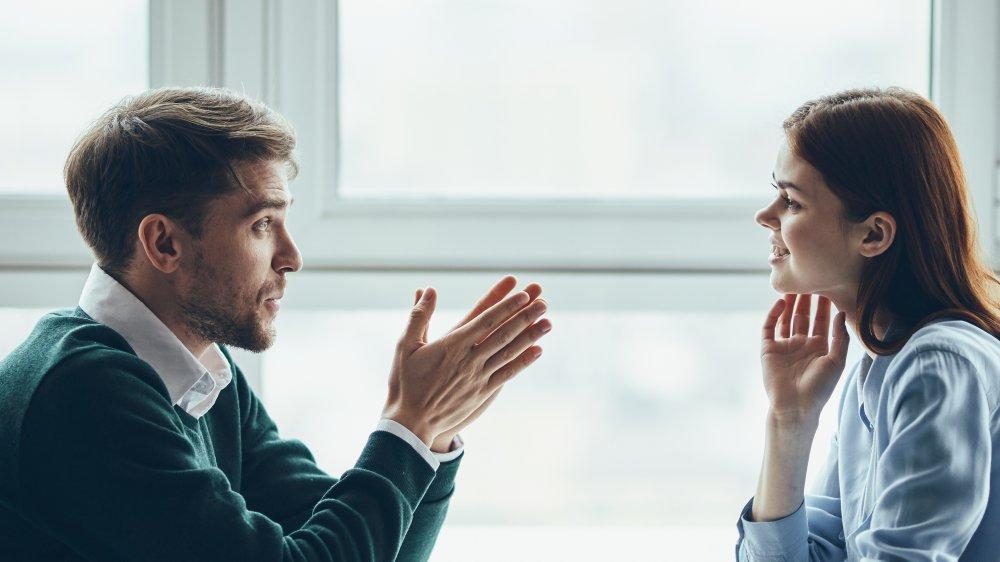 talking on a date