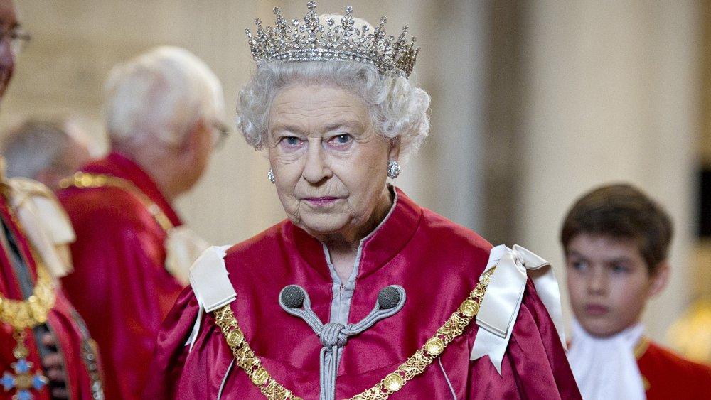 Page boy with Queen Elizabeth