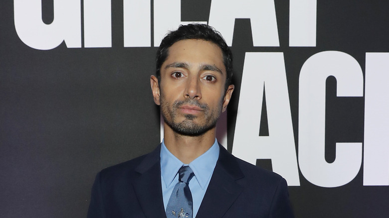 Actor Riz Ahmed poses on the red carpet