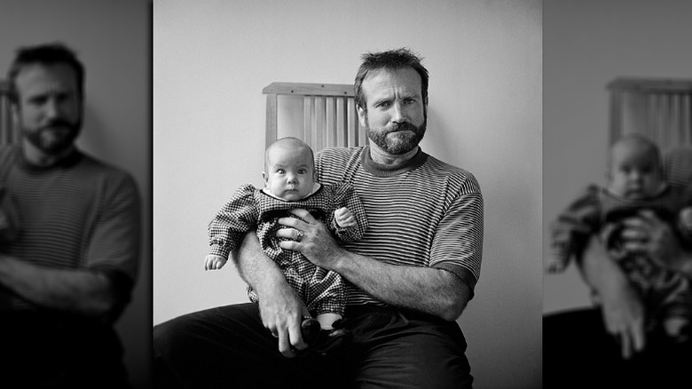 Zelda and her dad Robin Williams