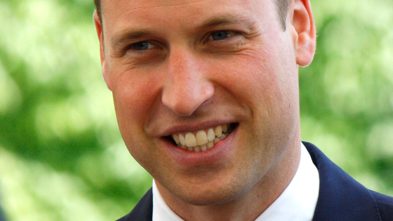 Prince William smiling for camera