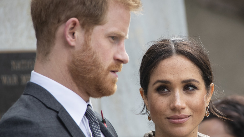 Prince Harry and wife Meghan Markle in public.