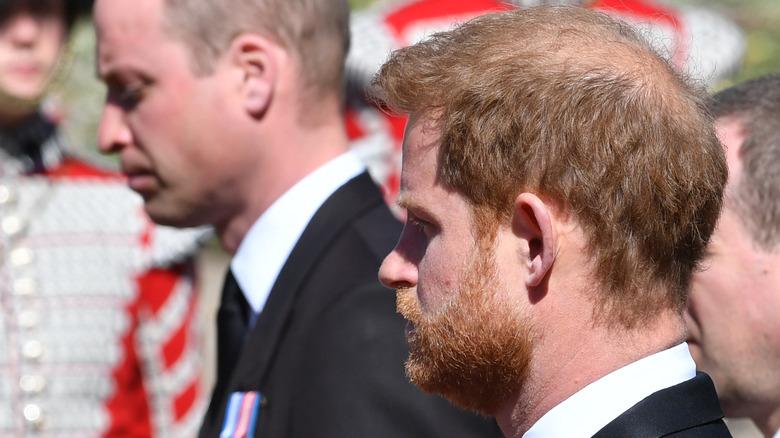 William and Harry Philip's funeral