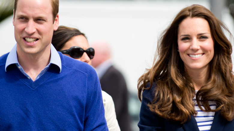 Prince William and Kate Middleton smile