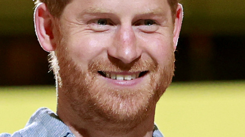 Prince Harry smiling at event