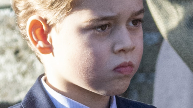 Prince George looking thoughtful