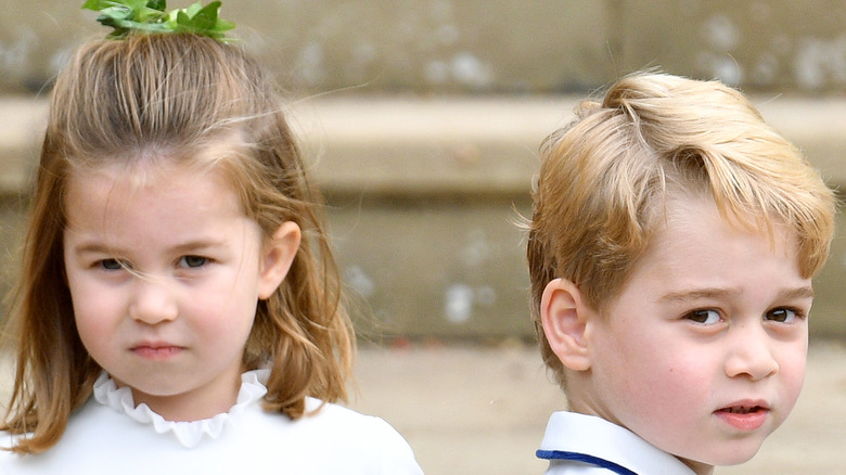 Prince George and Princess Charlotte smiling